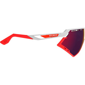Rudy Project Defender Occhiali, white gloss/red fluo/multilaser red